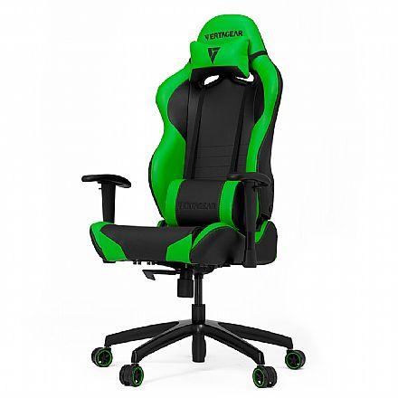 Cadeiras - Cadeira Gamer Vertagear Racing Series S-Line VG-SL2000_GR - Encosto Reclinável de 140º - Construção em Aço - Preta e Verde