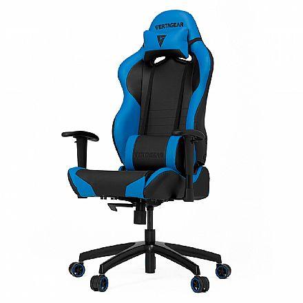 Cadeiras - Cadeira Gamer Vertagear Racing Series S-Line VG-SL2000_BL - Encosto Reclinável de 140º - Construção em Aço - Preta e Azul