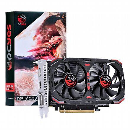 Placa de Vídeo - AMD Radeon RX 550 4GB GDDR5 128bits - PJ550RX12804G5DF