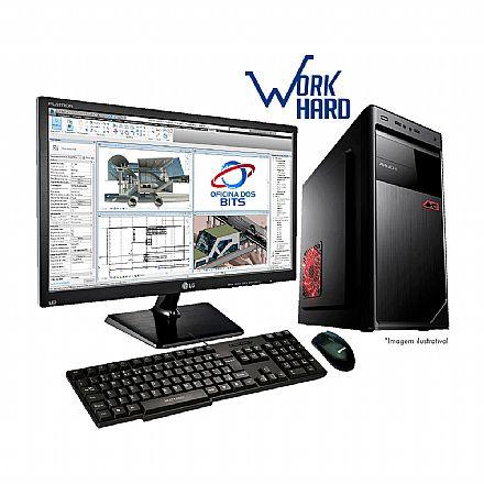 "Computador - Computador Bits WorkHard - Intel Core i5, 8GB, HD 1TB, Monitor 19.5"", com Mouse e Teclado, FreeDos - Garantia 1 ano"