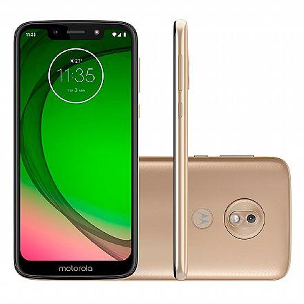 """Smartphone - Smartphone Motorola Moto G7 Play - Tela 5.7"""" HD+, 32GB, Dual Chip 4G, Câmera 13MP, Leitor de Digital - Ouro - XT1952-2"""