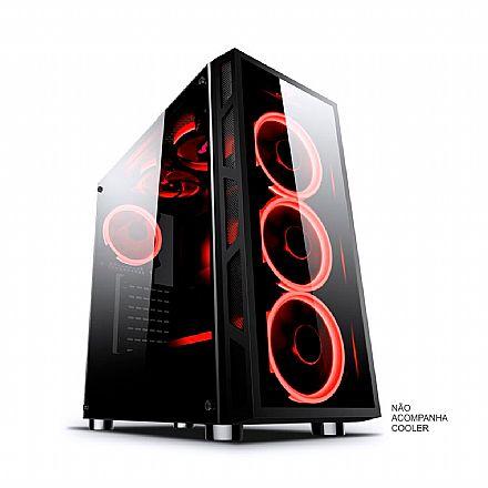 Gabinete - Gabinete Gamer BPC - Frontal e Lateral de Vidro Temperado - BPC-2052
