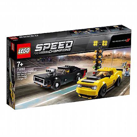 Brinquedo - LEGO Speed Champions - Dodge SRT Demon 2018 e Dodge 1970 Charger - 75893