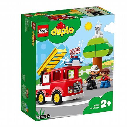 Brinquedo - LEGO Duplo - Caminhão de Bombeiros - 10901