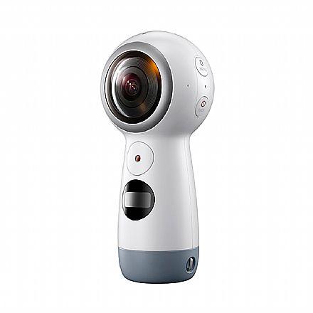 Câmera Digital - Câmera Samsung Gear 360 - Wi-Fi e Bluetooth - 8.4 Mega Pixels X2 - Sensor CMOS - Filmagem em 4K 360º - Branco - SM-R210