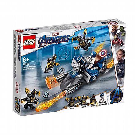 Brinquedo - LEGO Marvel Super Heroes - Capitão América: Ataque Outriders - 76123