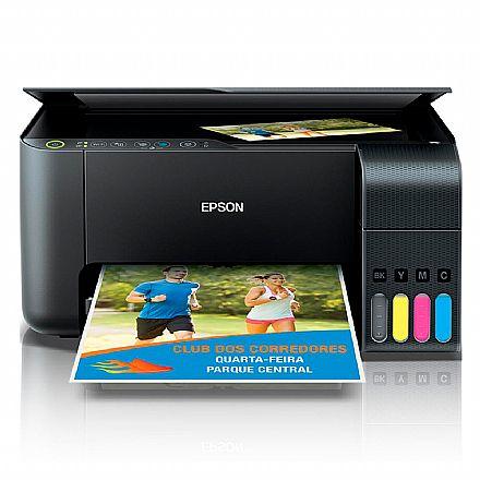 Multifuncional - Multifuncional Epson EcoTank L3150 com Tanque de Tinta - USB, Wi-Fi, Wi-Fi Direct® - Impressora, Copiadora e Scanner - C11CG86302