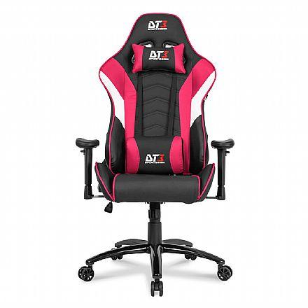 Cadeiras - Cadeira Gamer DT3 Sports Elise Pink - Encosto Reclinável de 180º - Construção em Aço - 11834-7