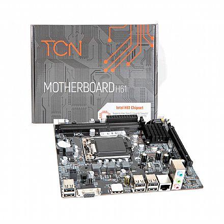 Placa Mãe para Intel - Placa Mãe TCN H61 (LGA 1155 - DDR3 1600) - Chipset Intel H61 - Micro ATX