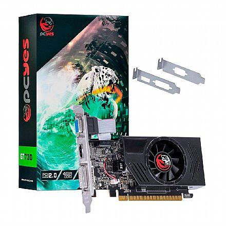 Placa de Vídeo - GeForce GT 730 4GB GDDR3 128bits - Low Profile - PCYes PA730GT12804D3
