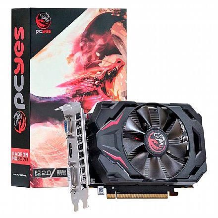 Placa de Vídeo - AMD Radeon HD 6570 2GB 128bits - PCYes PW657012802D3