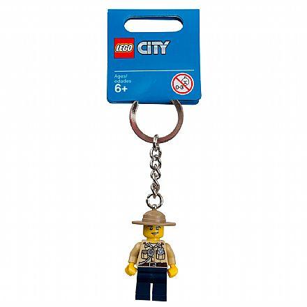 Brinquedo - LEGO - Chaveiro - City - Polícia do Pântano - 853463
