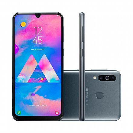 """Smartphone - Smartphone Samsung Galaxy M30 - Tela 6.4"""" Super AMOLED Infinita, 64GB, Dual Chip 4G, Câmera Tripla 13MP + 5MP + 5MP, Leitor de Digital - Preto - SM-M305M/64DL"""