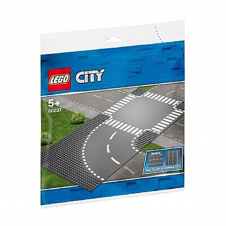 Brinquedo - LEGO City - Curva e Cruzamento - 60237