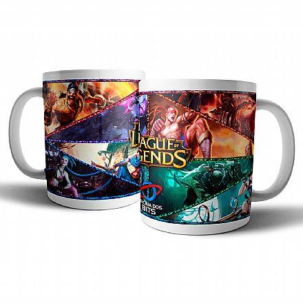 Acessórios - Caneca de porcelana - League of Legends - Oficina dos Bits