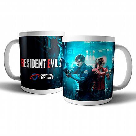Acessórios - Caneca de porcelana - Resident Evil 2 - Oficina dos Bits