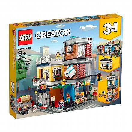 Brinquedo - LEGO Creator - Modelo 3 Em 1: Loja de Animais & Café - 31097