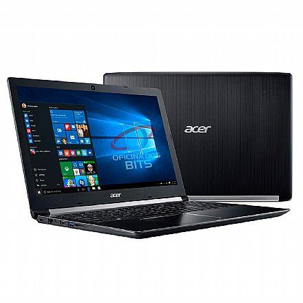 "Notebook - Notebook Acer Aspire A515-51-37LG - Tela 15.6"" HD, Intel i3 8130U, 4GB, SSD 240GB + HD 1TB - Windows 10 Professional"