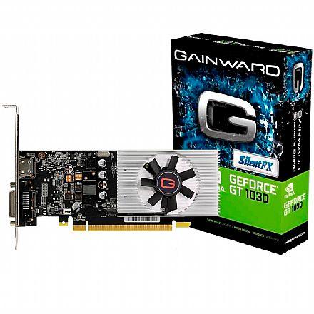 Placa de Vídeo - Geforce GT 1030 2GB DDR5 64bits - Gainward NE5103000646-1080F