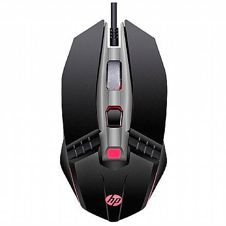Kit Teclado e Mouse - Mouse Gamer HP M270 - 2400dpi - 6 Botões - LED 4 Cores - Preto - 7ZZ87AA