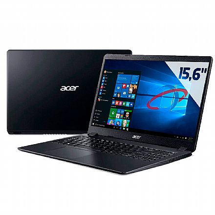 "Notebook - Notebook Acer Aspire A315-54-53WJ - Tela 15.6"", Intel i5 10210U, 4GB, HD 1TB, Windows 10"