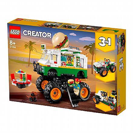 Brinquedo - LEGO Creator - Caminhão Gigante de Hambúrguer - 31104