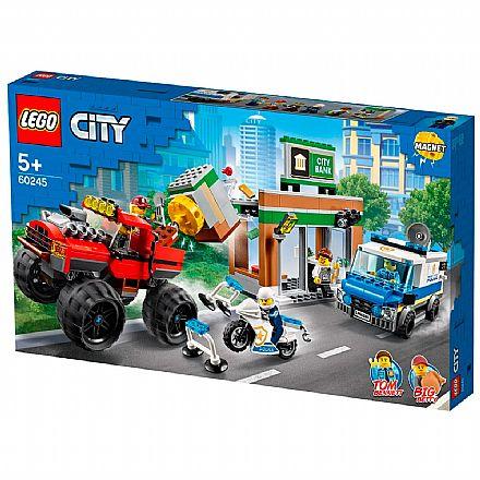 Brinquedo - LEGO City - Polícia Monster Truck Heist - 60245