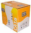 Caixa de Cabo UTP Cat 6 para rede - Furukawa Soho Plus - Homologado - CMX - Azul