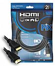 Cabo HDMI 1.4 - 2 Metros - 4K UltraHD 3D - High-Definition Multimedia Interface - Chip SCE PIX 018-0214