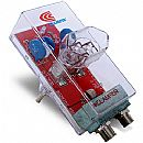 Protetor Contra Raios Clamper Energia + Cabo Coaxial - Bivolt - Transparente - 8530