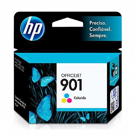 Cartucho HP 901 Colorido - CC656AL / CC656AB - para HP Officejet J4540, J4550, J4580, J4660, J4680, 4500