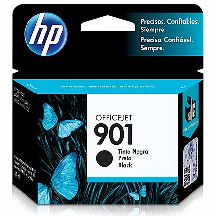 Cartucho HP 901 Preto - CC653AL / CC653AB - para HP Officejet J4540, J4550, J4580, J4660, J4680, 4500