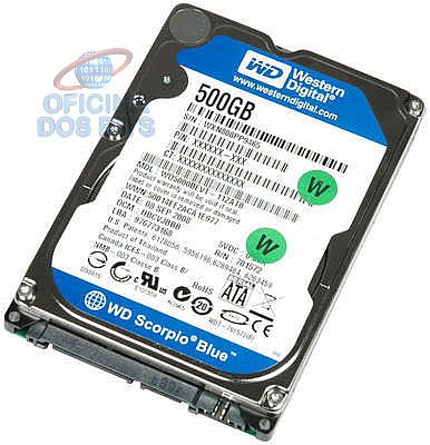 HD 500 GB para Notebook Western Digital - 7.0 mm - WD5000LPCX / WD5000LPVX