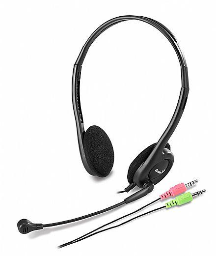 Headset Genius HS-M200C Slim - Cabo 1,8 Metros - com Microfone - Conector 3.5mm - 31710151100