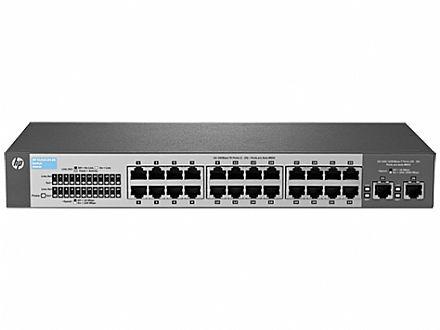 Switch 24 portas HP V1410-24-2G - 24 portas 10/100Mbps + 2 portas Gigabit - J9664A