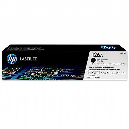 Toner HP 126A Preto - CE310A - Para HP Color Laserjet M175NW / M175A / M176N / M275NW / M177FW / CP1025