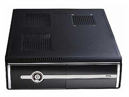 Gabinete Slim CaseMall Case Black S104-S - Vertical / Horizontal - Prata