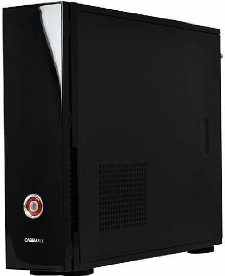 Gabinete Slim CaseMall Case Black S102 - Vertical / Horizontal