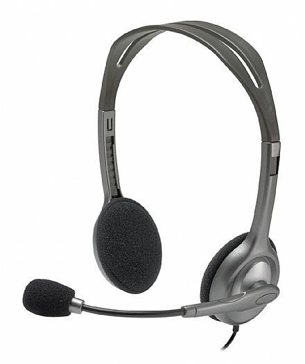 Headset Logitech H110 - com Redução de Ruídos - Conector P2 3.5mm - 981-000305