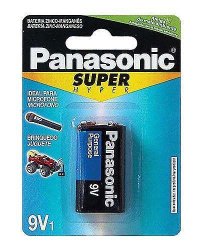 Bateria 9V Panasonic - 6F22UPT-1B