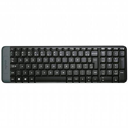 Teclado sem fio Logitech K230 Compacto - 920-004425 - 2.4GHz - personalizável