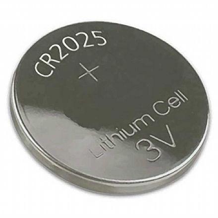 Bateria CR2025 Lithium 3V - tipo moeda - ALB64013 - Unidade - para alarmes automotivos, calculadoras e câmeras