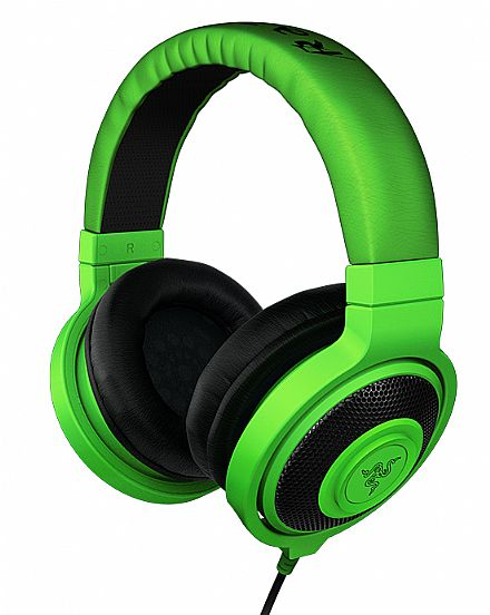 Headset Razer Kraken Green - RZ12-00870100-R3U1
