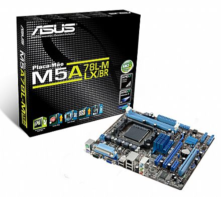Asus M5A78L-M LX/BR (AM3+ - DDR3 1866 O.C) Chipset AMD 760G - HyperTransport 3.0