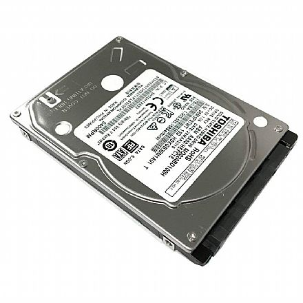"HD 1 TB Hybrido SSHD - 2.5"" - 9.5mm - 8GB SSD - 64MB Buffer - Toshiba MQ02ABD100H"