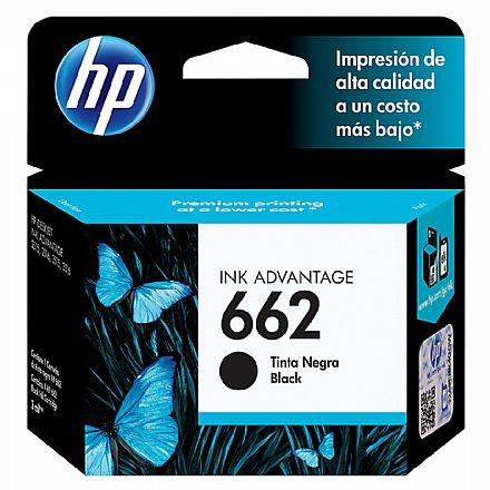 Cartucho HP 662 Preto - CZ103AB - Para Deskjet 1515 / 1516 / 2545 / 2546 / 2646 / 3546 / 4646