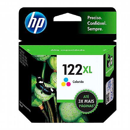 Cartucho HP 122XL Colorido - CH564HB - Para HP Deskjet 1000, 2000, 2050, 3050
