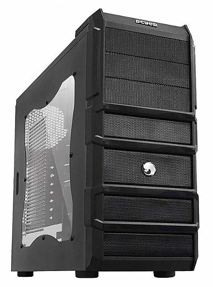 Gabinete Gamer Pcyes Rhino - Janela Lateral em Acrílico - USB 3.0 e Audio Frontal - Tool Free