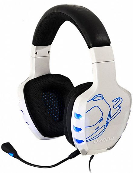 Headset Ozone Rage 7HX 7.1 White Edition - OZRAGE7HXW
