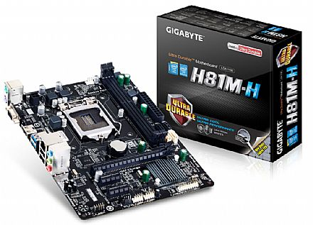 Gigabyte GA-H81M-H (LGA1150 - DDR3 1600) - Chipset Intel H81 - HDMI/VGA - USB 3.0